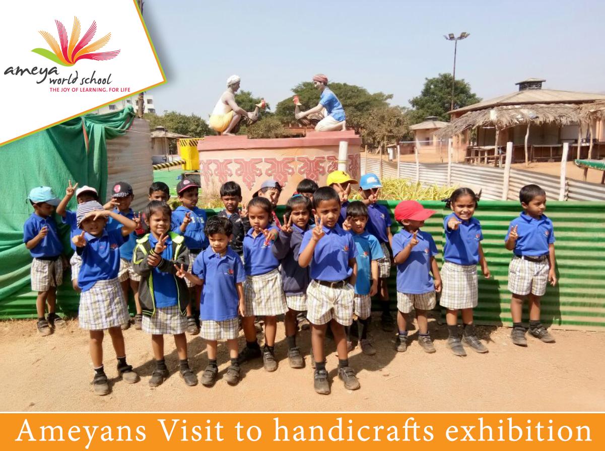Handicrafts Exhibition Visit Ameya Worls School Vizag